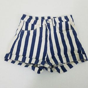 Divided Womens Size 6 Blue and White Shorts